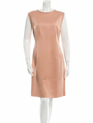 Lanvin Sleeveless Satin Dress