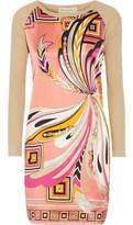 Emilio Pucci Stretch Silk-Paneled Wool And Cotton-Blend Mini Dress
