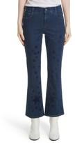 Stella McCartney Women's Star Print Crop Flare Jeans