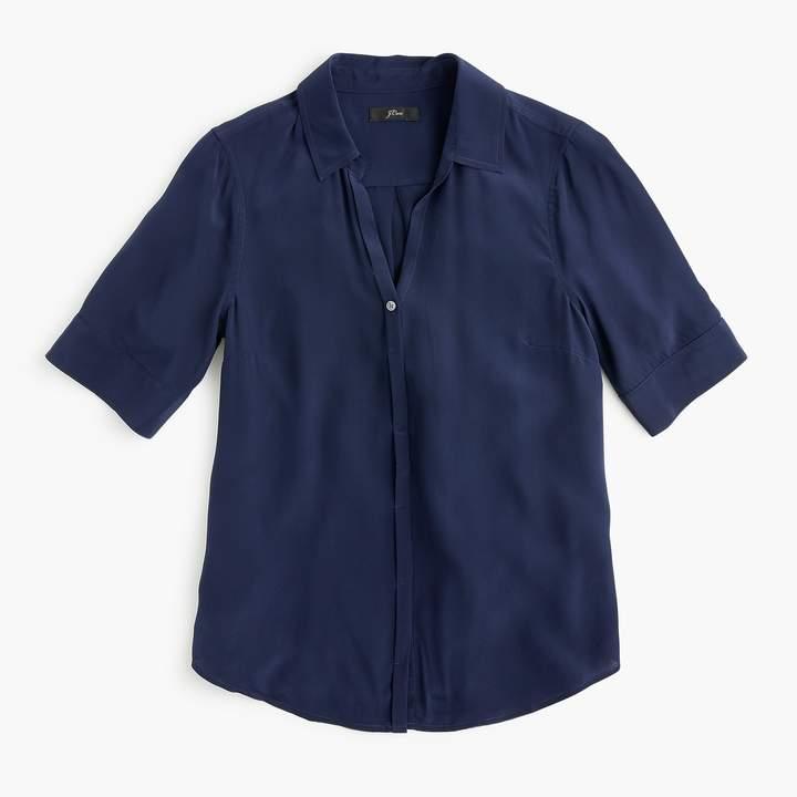 J.Crew Tall short-sleeve button-up shirt in silk
