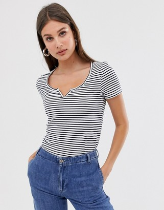 Only stripe t-shirt-Grey