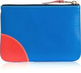 Comme des Garcons Color-block fluorescent leather wallet