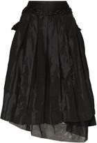 Simone Rocha asymmetric taffeta midi skirt