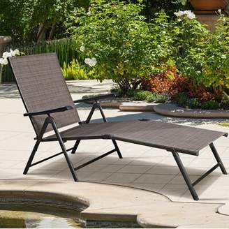 Pool' Winston Porter Soileau Pool Folding Reclining Chaise Lounge Winston Porter