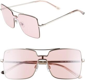 Web 55mm Square Metal Shield Sunglasses