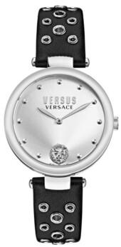 Versus By Versace Versus Women's Los Feliz Black Leather Strap Watch 34mm