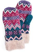 Muk Luks Women's Zigzag Mittens