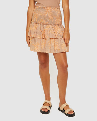 Jag Women's Orange Mini skirts - Lucy Palm Print Skirt - Size One Size, 8 at The Iconic