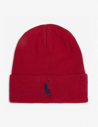 Polo Ralph Lauren Logo-embroidered cotton beanie hat