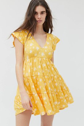 Urban Outfitters Julia Tiered Ruffle Frock Mini Dress