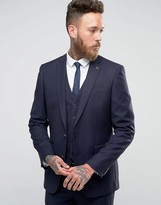 Farah Skinny Flannel Suit Jacket