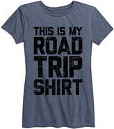 Instant Message Women's Women's Tee Shirts HEATHER - Heather Blue 'Road Trip Shirt' Relaxed-Fit Tee - Women