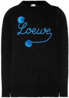 Loewe Embroidered wool sweater