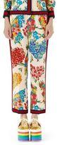 Gucci Corsage Print Silk Pajama Pants