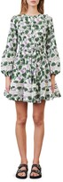Thumbnail for your product : Maje Roman Lace Inset Floral Print Dress
