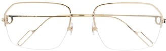 Cartier Eyewear Metallic Frame Glasses