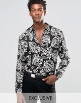 Reclaimed Vintage Floral Party Shirt In Regular Fit