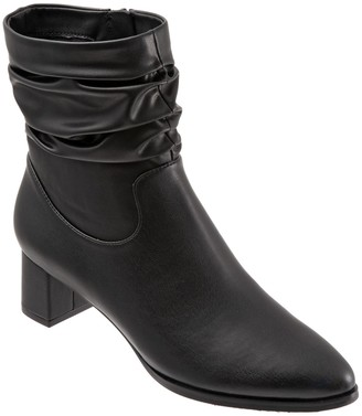 Trotters Block Heel Short Slouch Boots - Krista