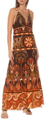Johanna Ortiz Neptunian Dress in Dark Brown