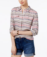 Tommy Hilfiger Striped Roll-Tab Shirt, Only at Macy's