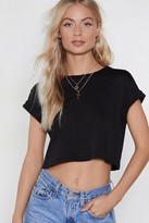 Nasty Gal Let the Good Times Roll Cropped Tee