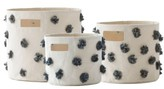 Petit Pehr Pom Set Of 3 Canvas Bins