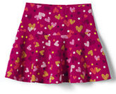 Classic Little Girls Pattern Knit Skort-Gray Heather Stars