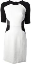 Milly paneled sheath dress