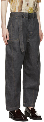 Lemaire SSENSE Exclusive Grey Twisted Jeans