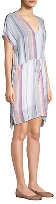 Rails Wren Striped Linen-Blend Tunic Dress