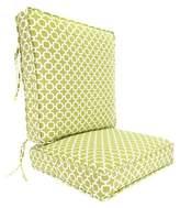 Jordan Manufacturing Outdoor Deep Seat & Back Chair Cushion - Green/White Geometric