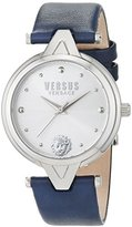 Versus By Versace Women's SCI090016 V Versus Analog Quartz Stainless Steel and Blue Leather Casual Watch