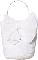 Grevi White Tiered Handbag with Bow