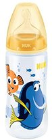 NUK First Choice+ Finding Dory 300ml Bottle 6-18 months Silicone Teat (Yellow)