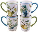 Certified International The Greenhouse Fruit 4-pc. Mug Set