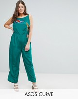 Asos Jumpsuit With Bird Embroidery Detail