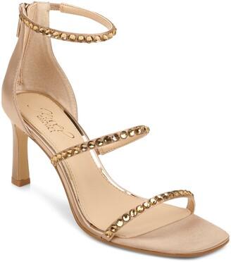 Badgley Mischka Ellis Embellished Ankle Strap Sandal