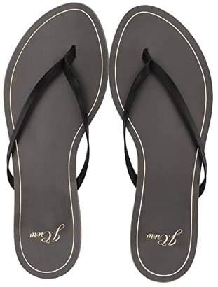 J.Crew New Capri Leather Flip-Flop (Black) Women's Shoes