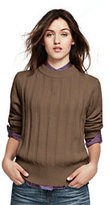 Lands' End Women's Crew Neck Sweater-Parchment