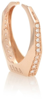 EÉRA Sabrina 18kt rose gold ear cuff with white diamonds
