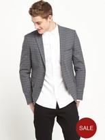Selected Wool Mix Check Blazer