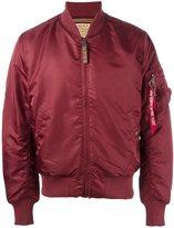 Alpha Industries sleeve detail bomber jacket