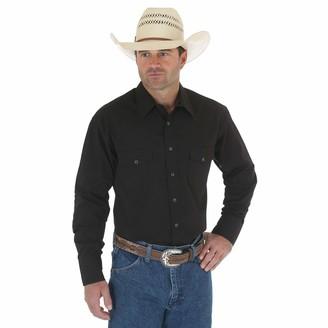 Wrangler Men's Sport Western Basic Two Pocket Long Sleeve Snap Shirt