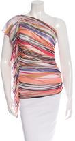 Missoni One-Shoulder Striped Top