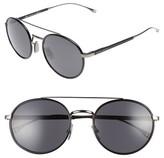 BOSS Men's 55Mm Round Sunglasses - Dark Ruthenium