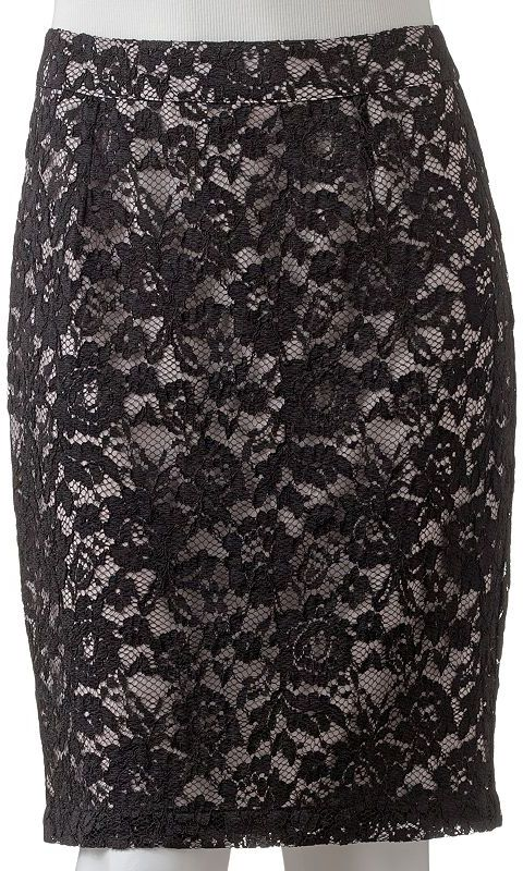 JLO by Jennifer Lopez lace pencil skirt