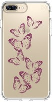 Speck Presidio Clear & Print iPhone 7 Plus Case - Brilliant Butterflies Gold