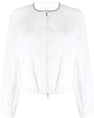 Fabiana Filippi embroidered floral cropped jacket