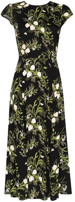 Reformation Gavin floral-print slit dress