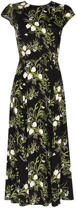 Reformation Gavin floral-print slit dress